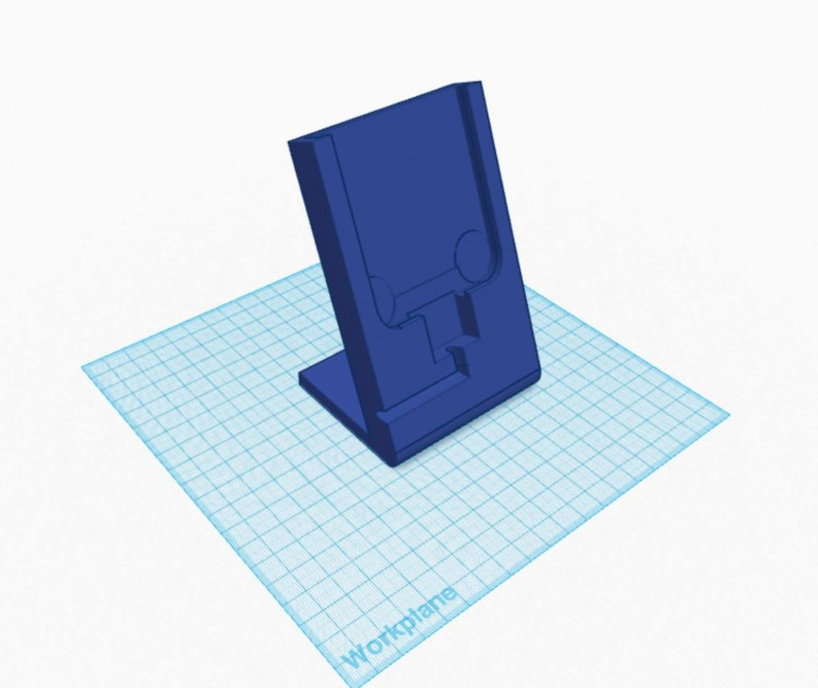 TinkerCAD model of phone charger stand
