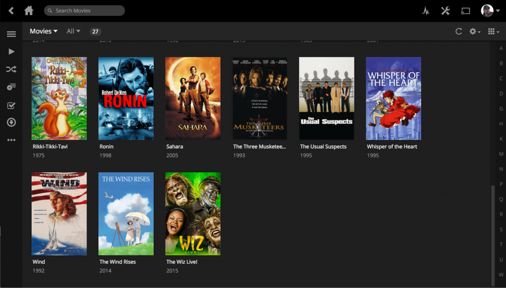 Screen Shot of Plex Display